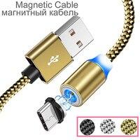 Cable USB magnético para Xiaomi Redmi Nota 7 de tipo profesional C adaptador de carga imán cargador para XIAOMI MI 9 8 SE A2 A3 MI9 Banco de la energía