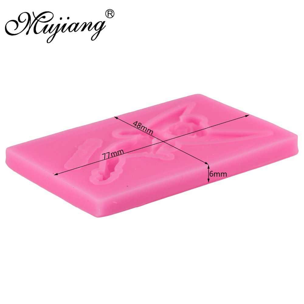 Mujiang 1ピース妖精シリコンフォンダン金型ケーキ飾るツールキャンディーfimo粘土金型チョコレートgumpaste鋳型XL366