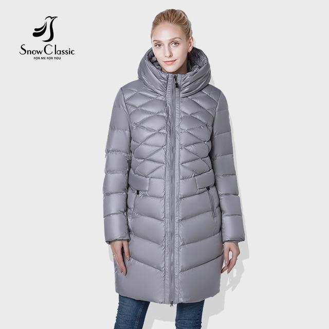 SnowClassic 2018 camperas mujer abrigo invierno куртка женщин пальто парка Мода ветрозащитный с капюшоном Европейский дизайн