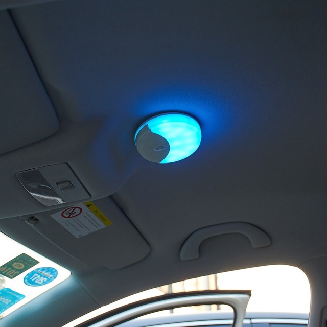 Car Roof Decor LED Light Rechargeable LED Night Lights Wireless Baby Nursery Lamp Touch Sensor Stepless Dimmable Puck Lights