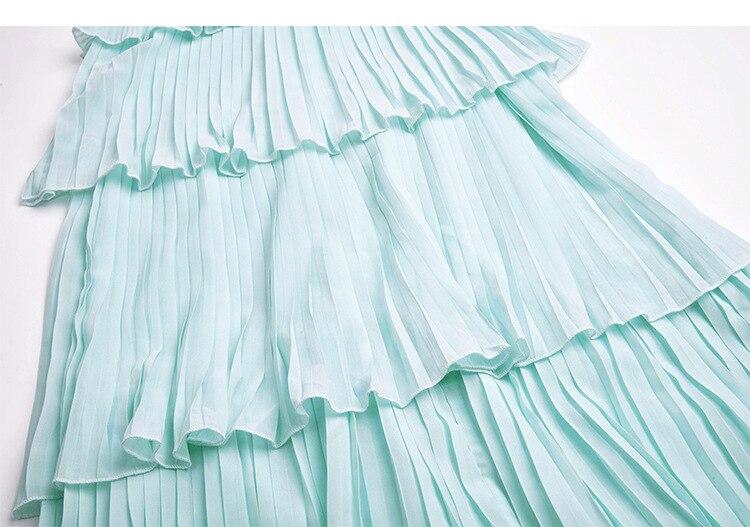 Hot fashion sequin ruffled layered dress 2018 summer runways ruffles cake chiffon dress D210 in Dresses from Women 39 s Clothing