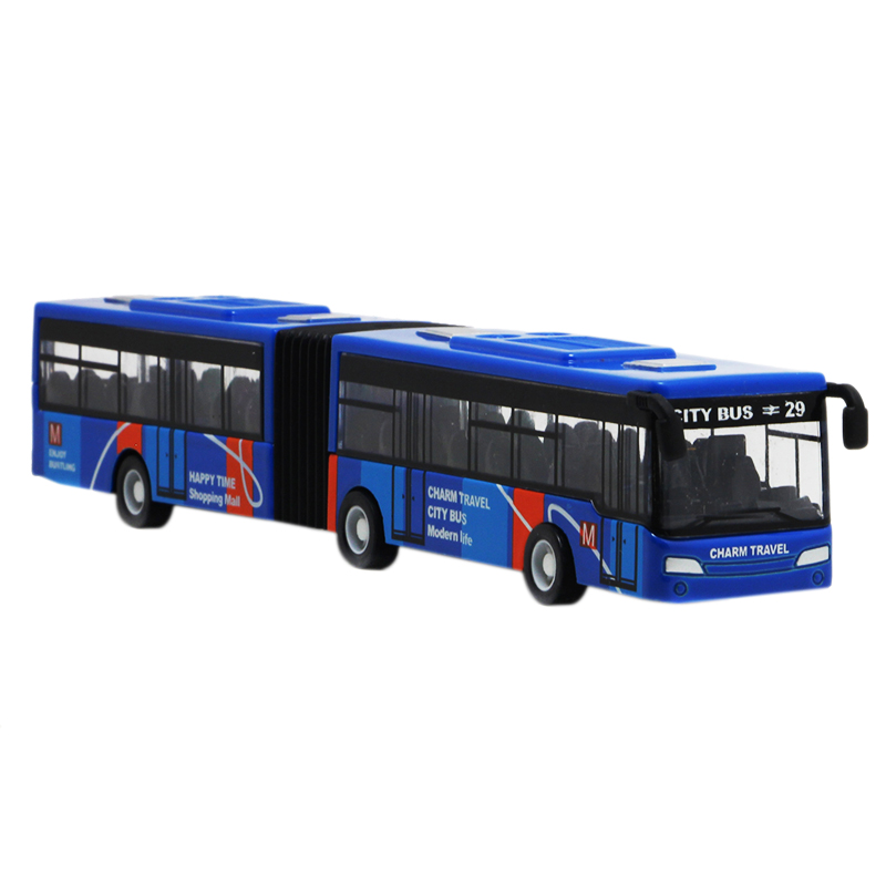 Children'S Diecast Model Vehicle Shuttle Bus Car Toys Small Baby Pull Back Toys