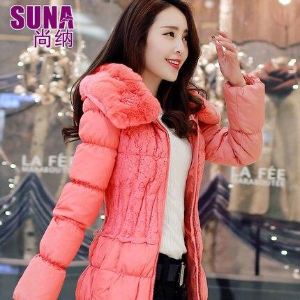 2016 new hot winter Thicken Warm woman Down jacket Coat Parkas Outerwear Hooded rabbit Fur collar long plus size 2XXL Luxury