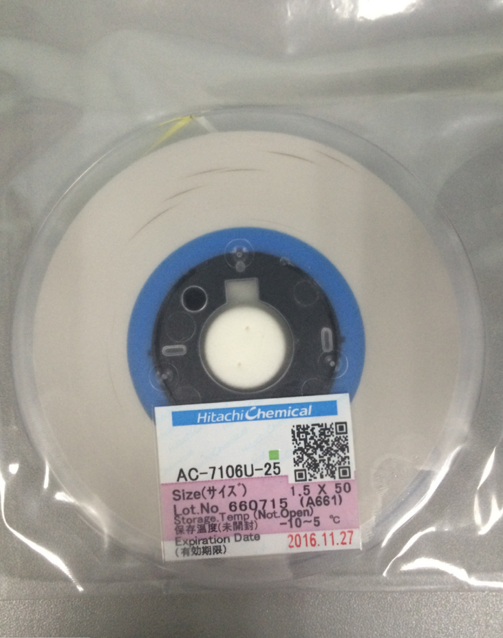 Original AC-7106U W1.5mm L50m 1.5MM*50M ACF conductive film anisotropic film adhesive for lcd repair on FPC to PCB