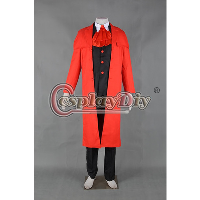 Cosplaydiy Alucard Cosplay Costume From Hellsing Adult Halloween Cosplay Clothing Custom Made Without Wig D0806