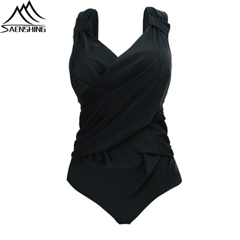 SAENSHING Plus Size 5XL One Piece Swimsuit Women Spring Summer Sexy Monokini Quick-Dry Good Quality Swimwear Women One Piece