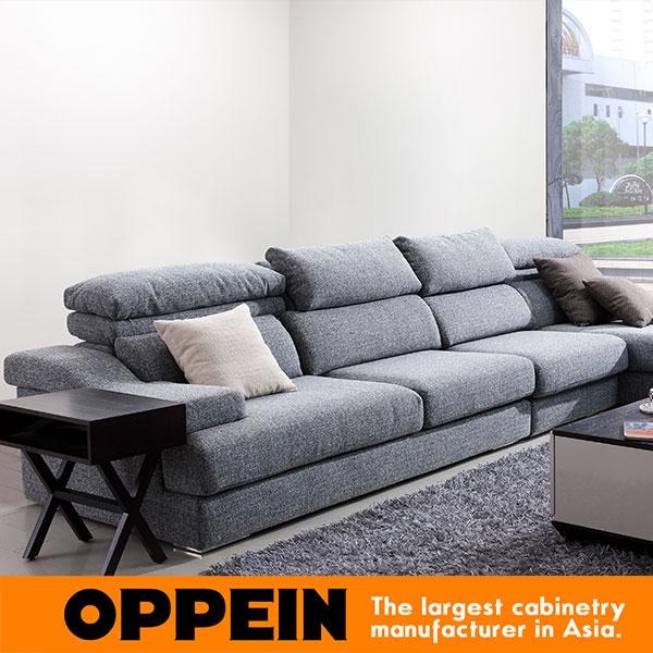 Modern Fabric Sectional Sofa With Corner Minimalist Modern