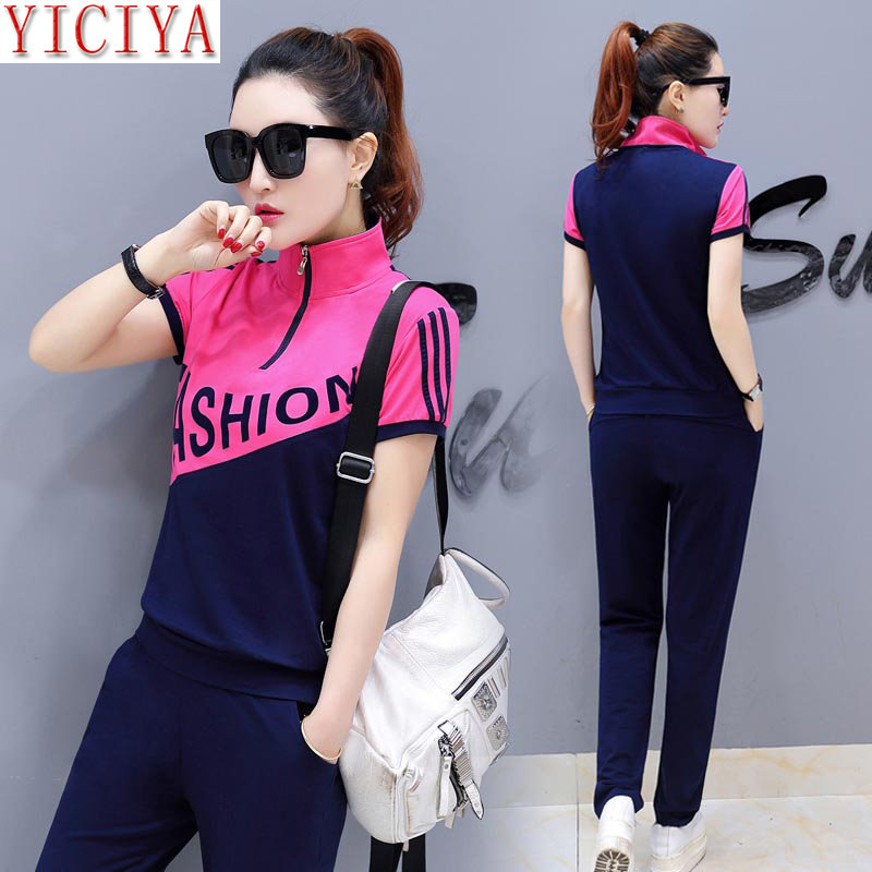 YICIYA pink suits tracksuits for women pant and top outfit sportswear fitness co ord set 2019 summer plus size stirped clothing in Women 39 s Sets from Women 39 s Clothing