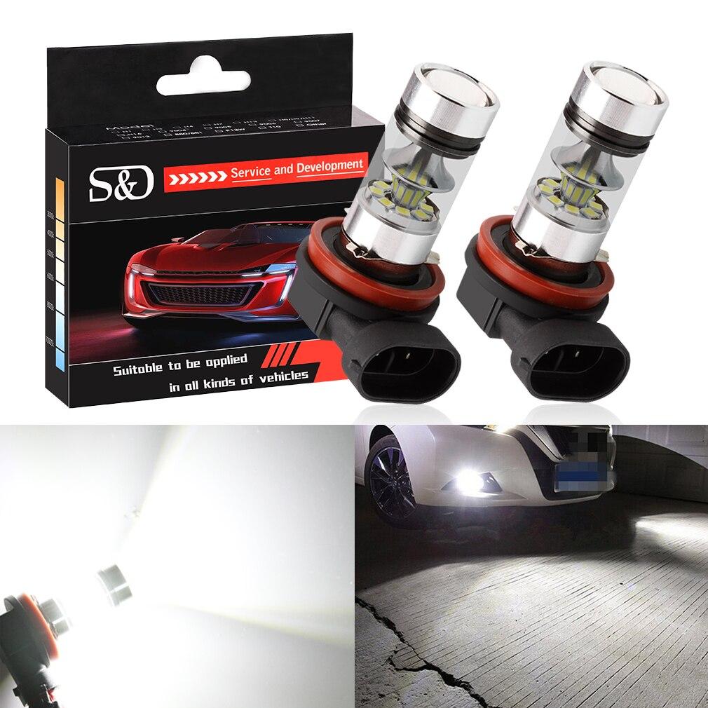2pcs H11 H8 LED Fog Light Bulbs 9005 HB3 HB4 9006 Car Daytime Running Lights Auto DRL Driving Lamp 12V 24V 6000K White