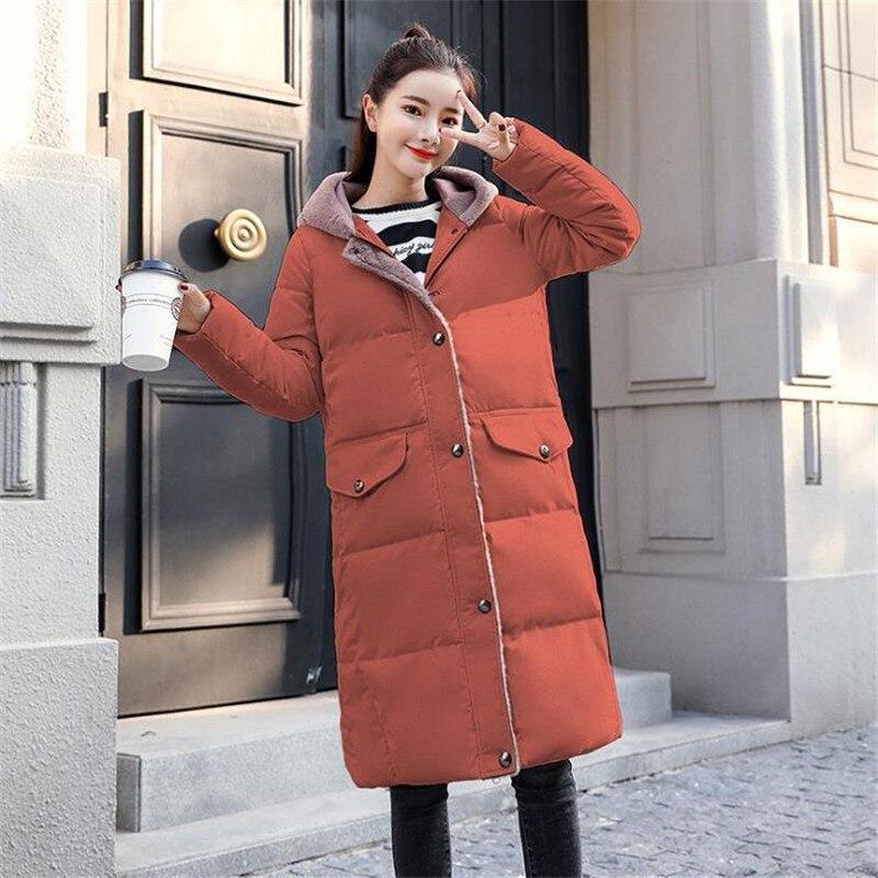 À De 2018 green Coton Veste white gray rust Manteau Mode Vers Fourrure Dames Luxe Red Bas Doux Capuchon Longue Black Maxi Le Hiver Survêtement Nouvelle Femme D'hiver Épais Cm803 Chaud qt0Wn1tr