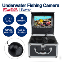 EYOYO Original 50m Underwater HD 1000TVL Camera Ice Sea Lake Fish Finder Fishing Tools 7 LCD