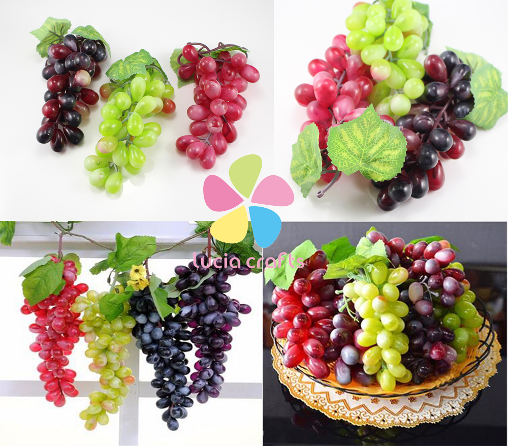 Artificial grapes decorative fruit home wedding party for Artificial pears decoration