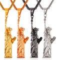 Caliente americana estatua de la libertad collar steampunk hombres/mujeres joyería de los encantos de acero inoxidable/chapado en oro colgante declaración gp2409