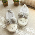 New Spring Autumn Winter Home Cartoon Sheep Cotton Plush Slippers Women Indoor\ Floor Warm Slippers Flat Shoes Girls Gift