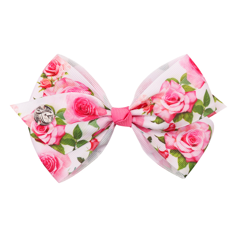 - Capsule 12pcs Large Ribbon Bows Wild Rose for cards and crafts