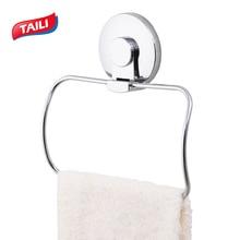 RVS Ring Muurbevestiging Chrome Handdoekring Vacuümzuignap Handdoekhouder Handdoek Bar Badkameraccessoires Handig voor Bad