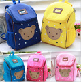 2016 urso bonito crianças criança ombros Sacos de sacos de escola do bebê mochila para meninos e meninas Dos Desenhos Animados