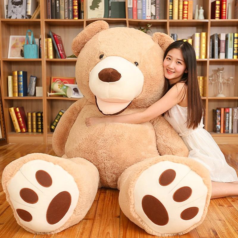Énorme taille 200 cm américain géant ours peau en peluche jouet ours en peluche manteau de haute qualité anniversaire meilleur cadeau doux jouets pour les filles