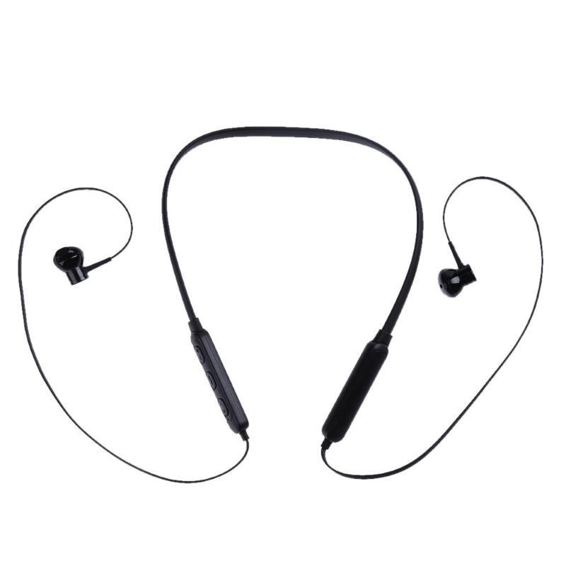 Music Earphone Wireless Bluetooth Headset Neck Band Headphone Wireless Stereo Earphone w/ Microphone for iPhone Smartphones m 6 bluetooth v3 0 stereo headset w microphone for iphone black