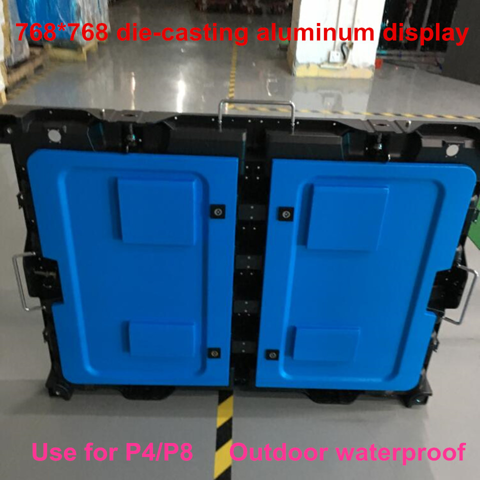 2017 P4 Waterproof New Size 768*768mm Die-casting Aluminum Cabinet Display For Outdoor Activities Rental Business