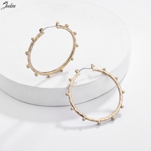 JOOLIM Antique Gold & Silver Hoop Earring  Effortless Chic Design Earrings for Women Gometric