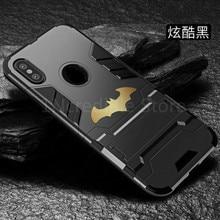 Batman Case Luxury Support For IPhone 7 Coque Matt Hard Phone Back Cover 5 6 6S 8 Plus X Capa Fundas