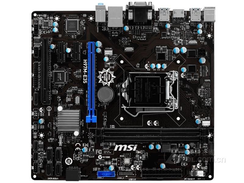 Original Motherboard MSI H97M-E35 H97 LGA 1150 DDR3 I3 I5 I7 DDR3 32G SATA3 USB3.0  Free Shipping