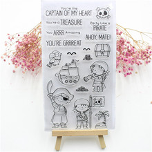 Cute Transparent Clear Silicone Stamps for DIY Scrapbooking Card Making diy photo album Decorative Pirate