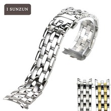 купить ISUNZUN Stainless Steel Watch Strap For Tissot 1853 T97 For R463 316 Men And Women Watches Band Bracelet Belt Watch Straps по цене 4484.28 рублей