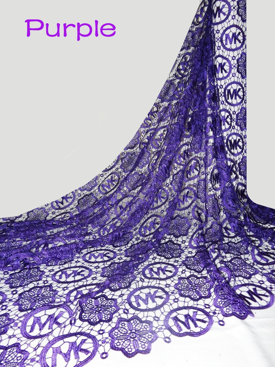 Hot High Quality African Guipure Cord Lace Fabric Swiss Water Lace For dress Wedding 5yd lot