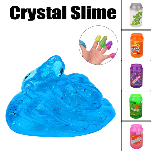 New Cans Flash powder Clear Slime Scented Stress Relief No Borax Kids Toy Sludge Cotton Mud to Release Clay toys for children ##