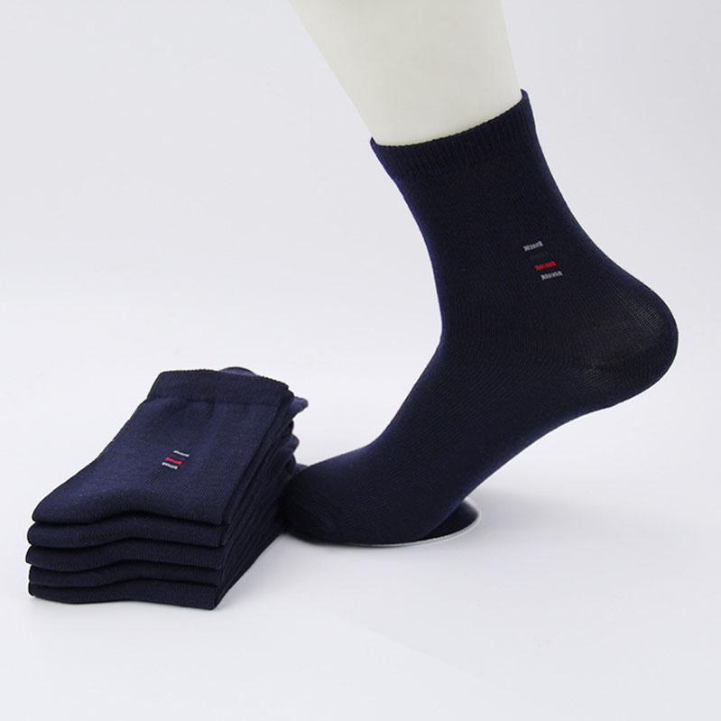 5 весна=10шт дешевой цене Мужские носки классический бизнес-бренда повседневные Хомбре мужчины носки высокое качество хлопок свободного покроя носки