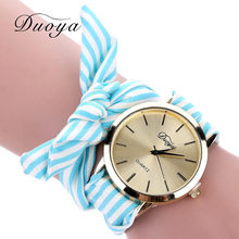 2019 Fashion Women's Flower Star Bow Bracelet Wristwatch Scarf Band Party Gofuly Dress Watch Casual Clock Relogio Feminino #D(China)