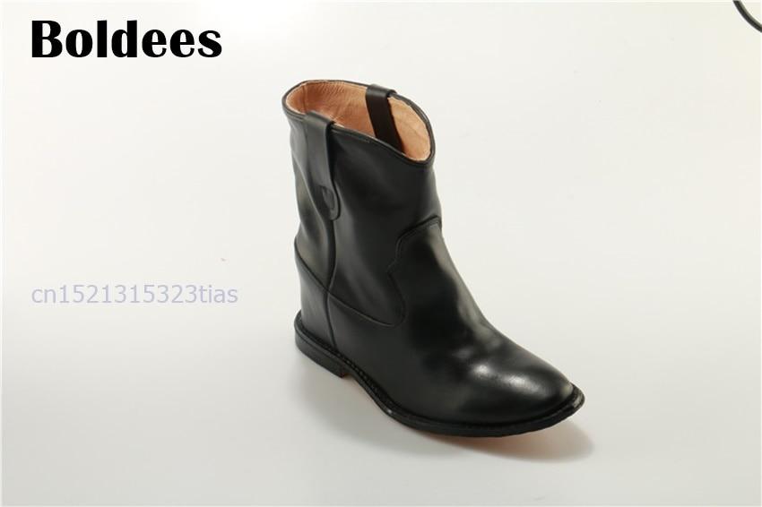 Здесь продается  Fashion Lady Ankle Boots Black Gray Genuine Leather Shoes Luxury Comfortable Flat Short Botas Women Zapatos Mujer  Обувь