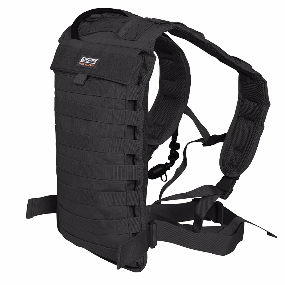Tactical Molle Hydration Carrier Pack Backpack for Running Hiking Camping Cycling Motorcycle fit Seibertron 2.0L/2.5L water bag 3l tactical water bottle bag knapsack hydration backpack pouch hiking camping cycling pack canteen water bag molle