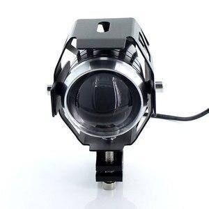 Image 4 - 2 sztuk białe reflektory motocykla lampa pomocnicza U5 led reflektor motocyklowy akcesoria 12V moto DRL spot reflektory przednie