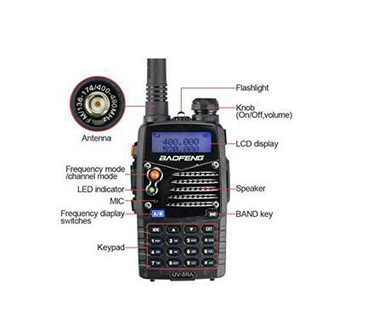 New walk talk Pofung Baofeng UV-5RA For Police Walkie Talkies Scanner Radio Vhf Uhf Dual Band Cb Ham Radio Transceiver 136-174 (7)