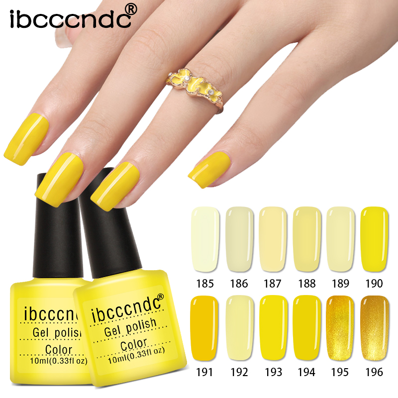 12 Pcs  Yellow Series UV Gel Nail Polish 10ML Gel Vernis Semi Permanent Nail Primer Gel Varnishes Lacquer Gelpolish Gift Box 12pcs lot green series uv gel nail polish led lamp gel lacquer gel polish vernis semi permanent gel varnish nail primer base top