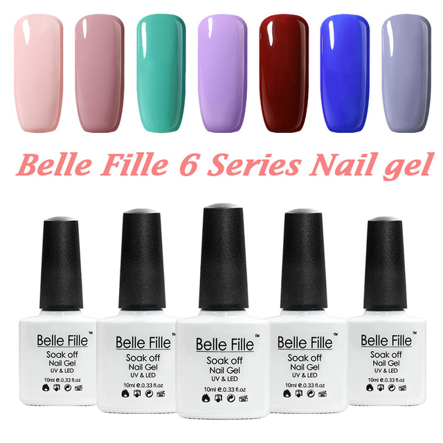 12 unids/lote colores Serie UV Esmaltes gel de uñas 10 ml verde rosa ...