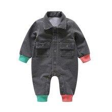 6c1cf6ee400 0-3 t Heißer Verkauf Kind Weichem Denim Overalls Insgesamt Baby Jungen  Mädchen Strampler Playsuits Kinder Feste Sterne Jeans kle.