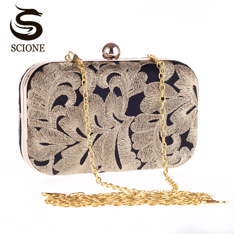 New arrival ladies gold evening bag crystal clutch chain bags high quality diamond wedding bags free shipping flower clutch CJ20