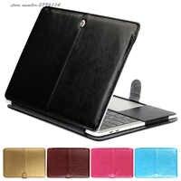 Nouveau étui en PU pour Macbook Pro 13 A1706 tablette tactile et identification tactile étuis pour ordinateur portable en cuir massif pour Mac Book Pro A1708 coque de couverture