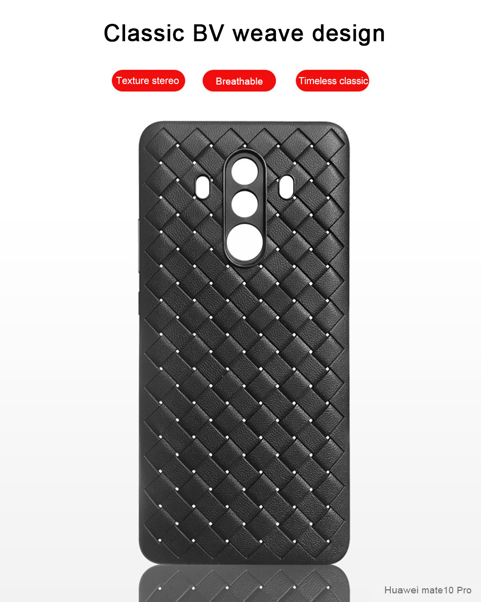 !ACCEZZ Luxury Soft TPU Ultra-thin Protective Back Cover Shell For Huawei Mate1010pro Phone Cases BV Weave Capa Fundas Coque (4)