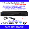 H.264 Onvif Plug to Play P2P Standalone 2 SATA 16CH Realtime Analog High Definition AHD DVR AVR HVR NVR for AHD Camera Security
