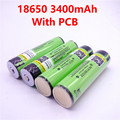 2018 pcs 4 2018 Original LiitoKala 18650 NCR18650B 3400 bateria de 3400 mah 3.7 v Rechargebale Li-ion PCB bateria Protegido Para