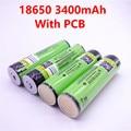 2019 4PCS 2019 Original LiitoKala 18650 3400mAh NCR18650B 3400 battery 3.7V Li-ion Rechargebale battery PCB Protected For