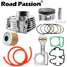 Road Passion Motorcycle Engine Cylinder + Piston + Rings 85mm (Cylinder diameter) For Honda XR400 XR 400 1996-2004 xr250 piston kit rings set motorcycle engine parts piston set for xr 250 25 cylinder oversize bore size 73 25mm new