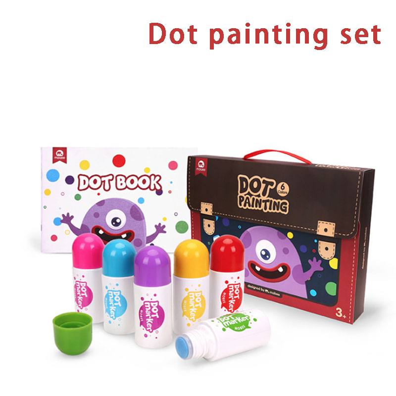 Children's Doodle Dot Marker Dot Painting Set With A Picture Book Educational Toys For Kid Painting