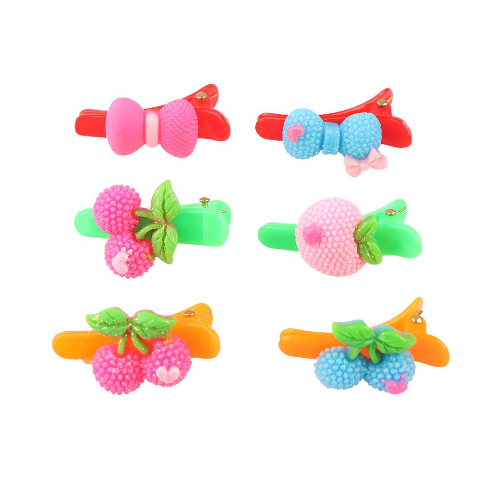 HTB11uYDRVXXXXX5apXXq6xXFXXXL 12-Pieces Mix Colorful Fruit Flower Star Animal Fish Ribbon Heart Candy Hair Accessories For Girls
