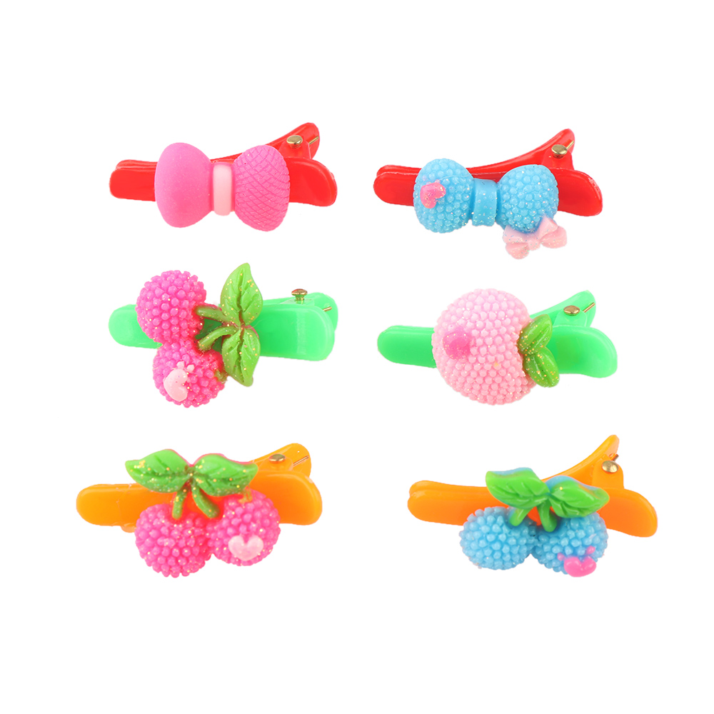 HTB11uYDRVXXXXX5apXXq6xXFXXXL 12-Pieces Mix Colorful Fruit Flower Star Animal Fish Ribbon Heart Candy Hair Accessories For Girls